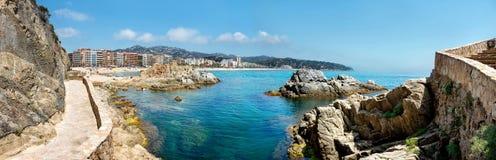 Coastline of Lloret de Mar. Costa Brava, Catalonia, Spain Royalty Free Stock Images
