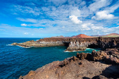 Coastline of Los Hervideros Lanzarote Royalty Free Stock Photos