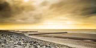 Coastline. The lovely coastline of Zeeland, Netherlands stock photography