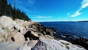 Coastline from Maine stock video