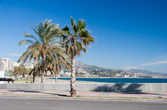 Coastline at Malaga Stock Photography