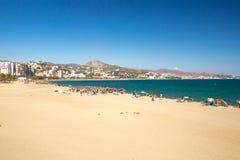 Coastline at Malaga Royalty Free Stock Photos
