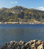 Coastline of the Mediterranean near Menton Stock Image
