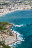 Coastline of Mediterranean Resort Calpe, Spain with Sea and Lake Stock Photo