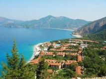 Coastline of mediterranean sea hotel turkey Stock Images