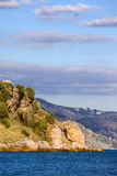 Coastline of the Mediterranean Sea in Spain Stock Images