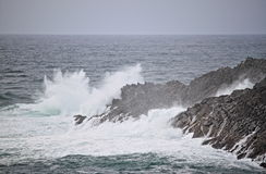 Coastline of Mizen Head in stormy weather Stock Image