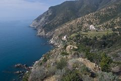 Coastline between Moneglia and Riva Trigoso Royalty Free Stock Image