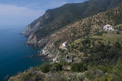 Coastline between Moneglia and Riva Trigoso Stock Photography