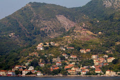 Coastline in Montenegro. Coastline along the bays of Montenegro Royalty Free Stock Photography