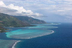 Coastline of Moorea, French Polynesia Stock Photo