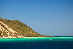 Coastline of Moreton Island Australia Stock Images