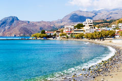 Coastline with mountains view Royalty Free Stock Images
