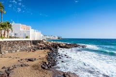 Coastline in n Puerto del Carmen, Lanzarote, Spain Stock Photography