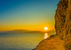 Coastline of Nafplio Royalty Free Stock Photography