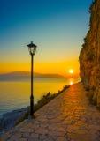 Coastline of Nafplio Royalty Free Stock Photography