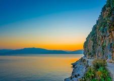 Coastline of Nafplio Royalty Free Stock Image