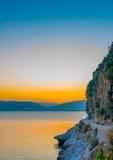 Coastline of Nafplio Royalty Free Stock Photos
