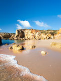 Coastline near Albufeira, Portugal Royalty Free Stock Photo