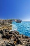 Coastline near Azure Window Royalty Free Stock Photos