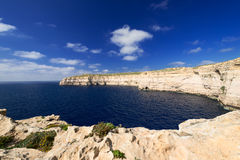 Coastline near Azure Window on Gozo Island horizontal Royalty Free Stock Photo