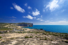 Coastline near Azure Window on Gozo Island Stock Images