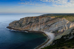 The coastline near cape Espichel, Portugal Royalty Free Stock Photos