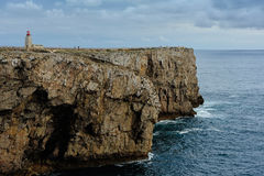 Coastline near Fortaleza de Sagres, Portugal Stock Photography