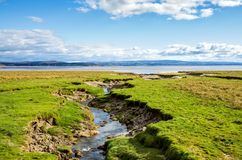 Coastline near Grange-over-sands, Cumbria, England Royalty Free Stock Images