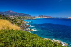 Coastline near Lile Rousse on Corsica in France Stock Photography