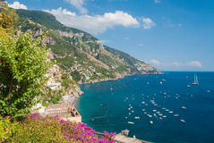 Coastline near Positano. The coastline near Positano in the Amalfi coast Royalty Free Stock Photo