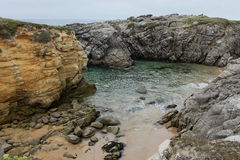 Coastline near Quiberon, Brittany, France Stock Photos