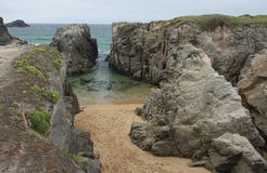 Coastline near Quiberon, Brittany, France Royalty Free Stock Photography