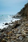 Coastline near the rocks stock image