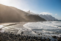 Coastline near Tagana village on Tenerife island Royalty Free Stock Image