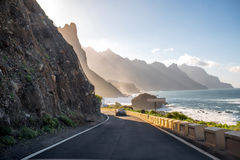 Coastline near Tagana village on Tenerife island Royalty Free Stock Photography