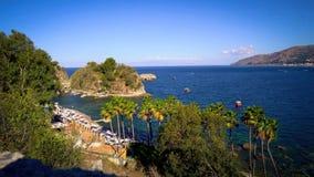 The coastline near Taormina, Sicily. royalty free stock image
