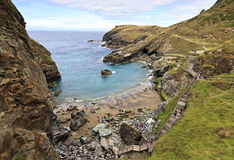 Coastline near Tintagel in Cornwall, England, United Kingdom Stock Photo