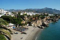 Coastline Nerja Stock Photo