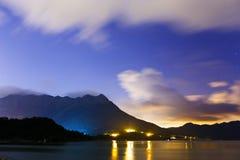 Coastline at night Stock Image