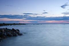 Coastline nighttime Stock Image