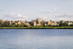 Coastline of the Nile river,Damietta,Egypt. Royalty Free Stock Images