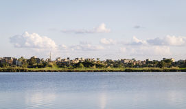 Coastline of the Nile river,Damietta,Egypt Royalty Free Stock Photos