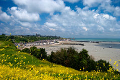 Coastline of Normandy. A view on the coastline of Normandy, France Royalty Free Stock Image