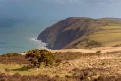 Coastline of North Devon between Ilfracombe and Lynmouth Stock Photos