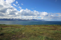 Coastline of Northern Iceland stock photography