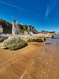 Coastline in Northern Ireland. Coastline near Portrush in Northern Ireland stock photos