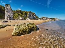 Coastline in Northern Ireland. Coastline near Portrush in Northern Ireland royalty free stock photography