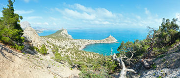 Coastline of Novyj Svit summer view (Crimea, Ukraine) Royalty Free Stock Photo