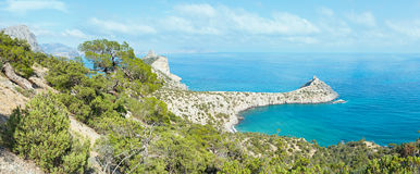 Coastline of Novyj Svit summer view (Crimea, Ukraine) Royalty Free Stock Images